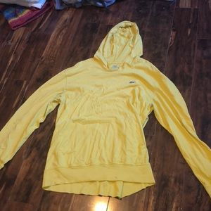 Yellow Lacoste thin sweatshirt